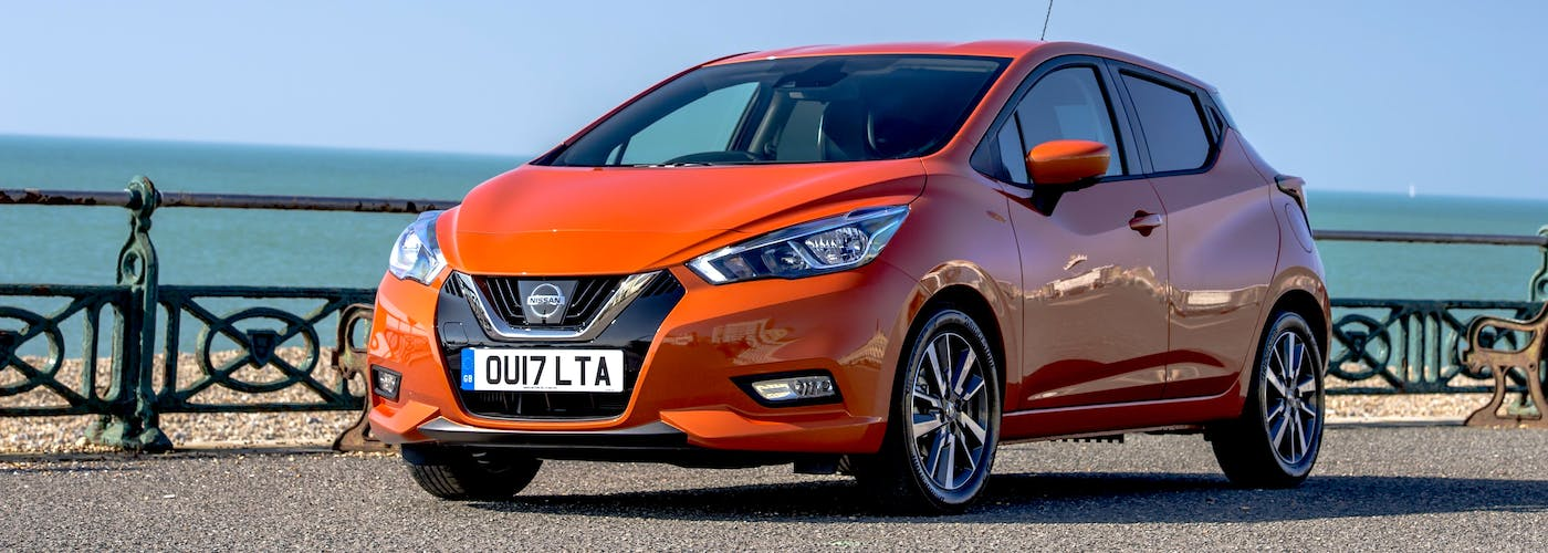 The front exterior of a Nissan Micra