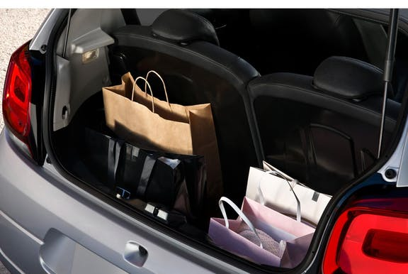 Boot space shot of the Citroen C1