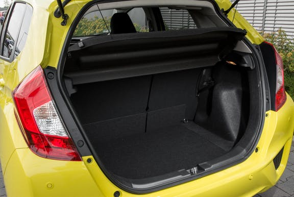 Boot space shot of the Honda Jazz