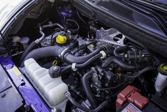 Engine shot of the Nissan Juke
