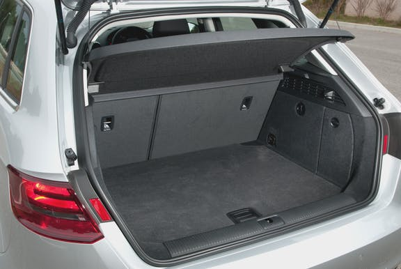 Boot space shot of the Audi A3