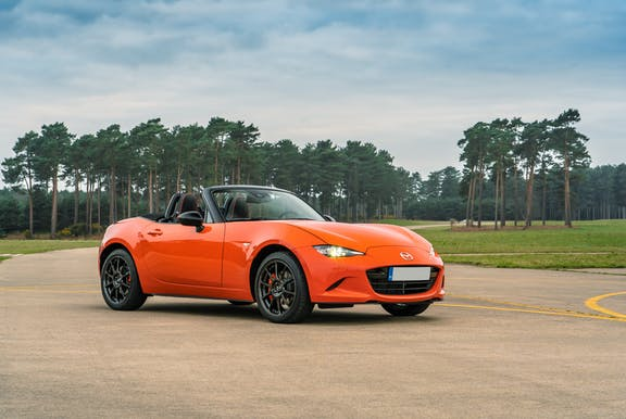 The front exterior of a Mazda MX-5