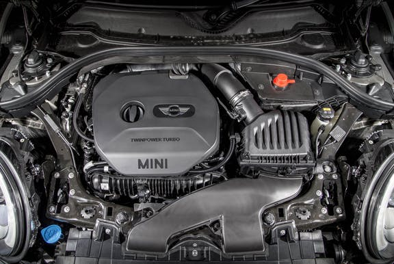 Engine shot of the Mini Clubman