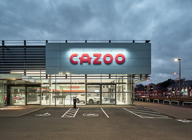 The exterior of the Birmingham Cazoo Customer Centre