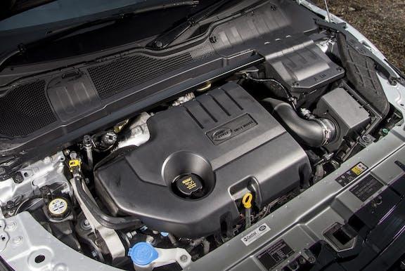 Engine shot of the Range Rover Evoque