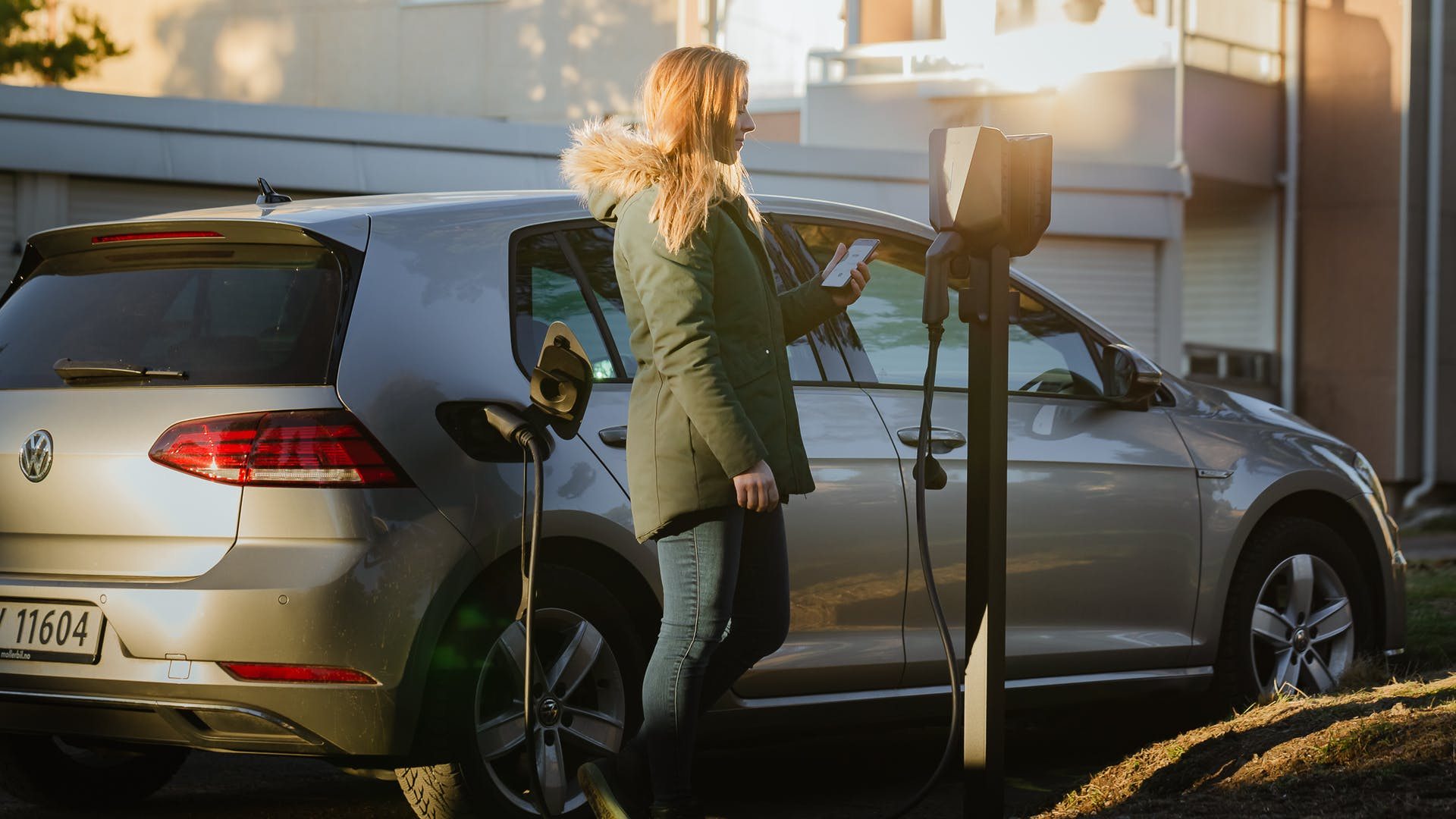Woman Charging with Easee