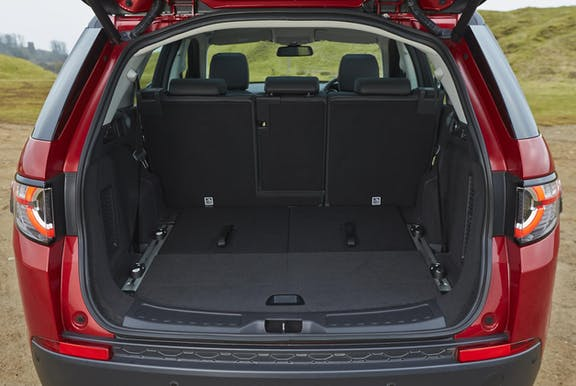 Boot space shot of the Land Rover Discovery Sport