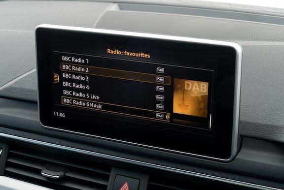 Fascia shot of the Audi A4