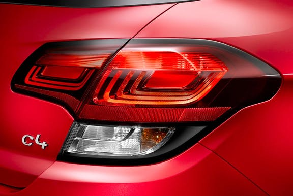 Rear light shot of the Citroen C4
