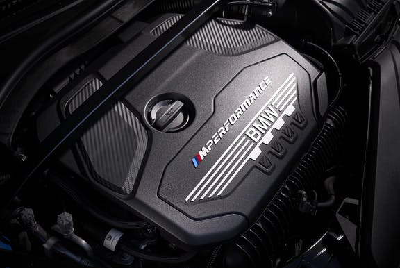 Engine shot of the BMW 1 Series