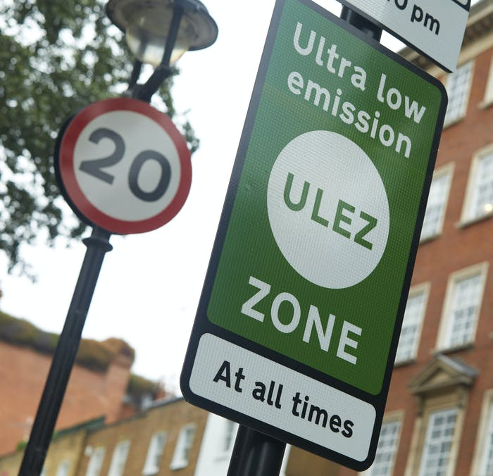 Ultra low emission zone sign