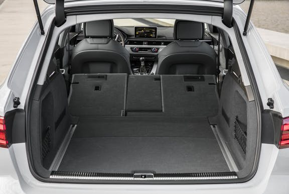 Boot space shot of the Audi A4