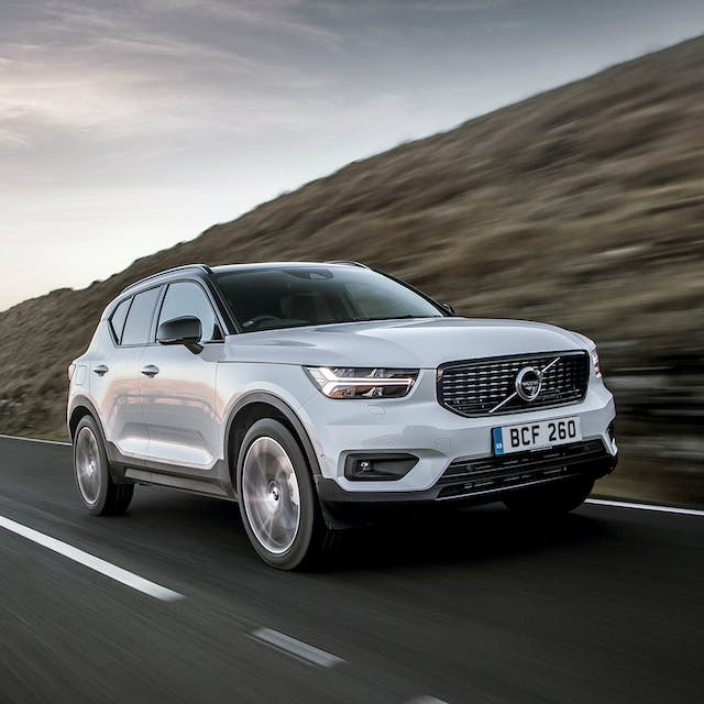 The front exterior of the Volvo XC40