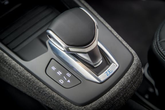 Gear stick shot of the Renault Zoe