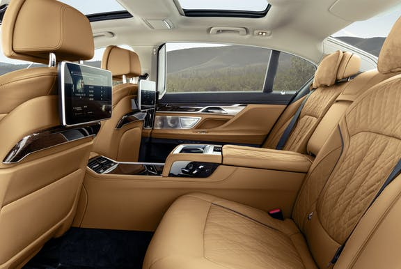 Rear seats shot of the BMW 7 Series