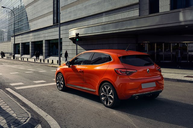 Rear exterior shot of the Renault Clio
