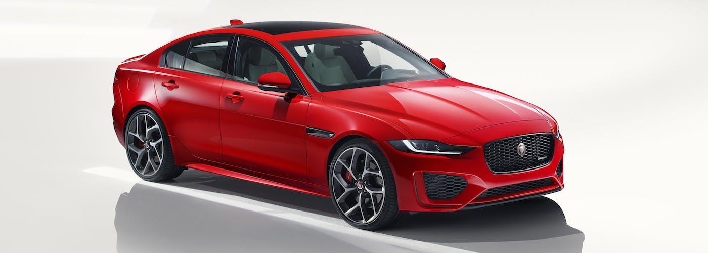 Front exterior of the Jaguar XE
