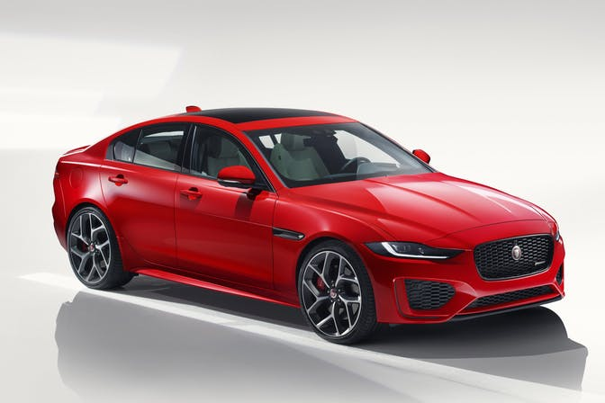 Front exterior of the Jaguar XE