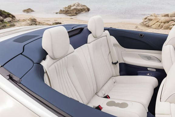 Rear seat shot of the Mercedes-Benz E-Class