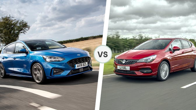 Ford Focus and Vauxhall Astra front exterior comparison