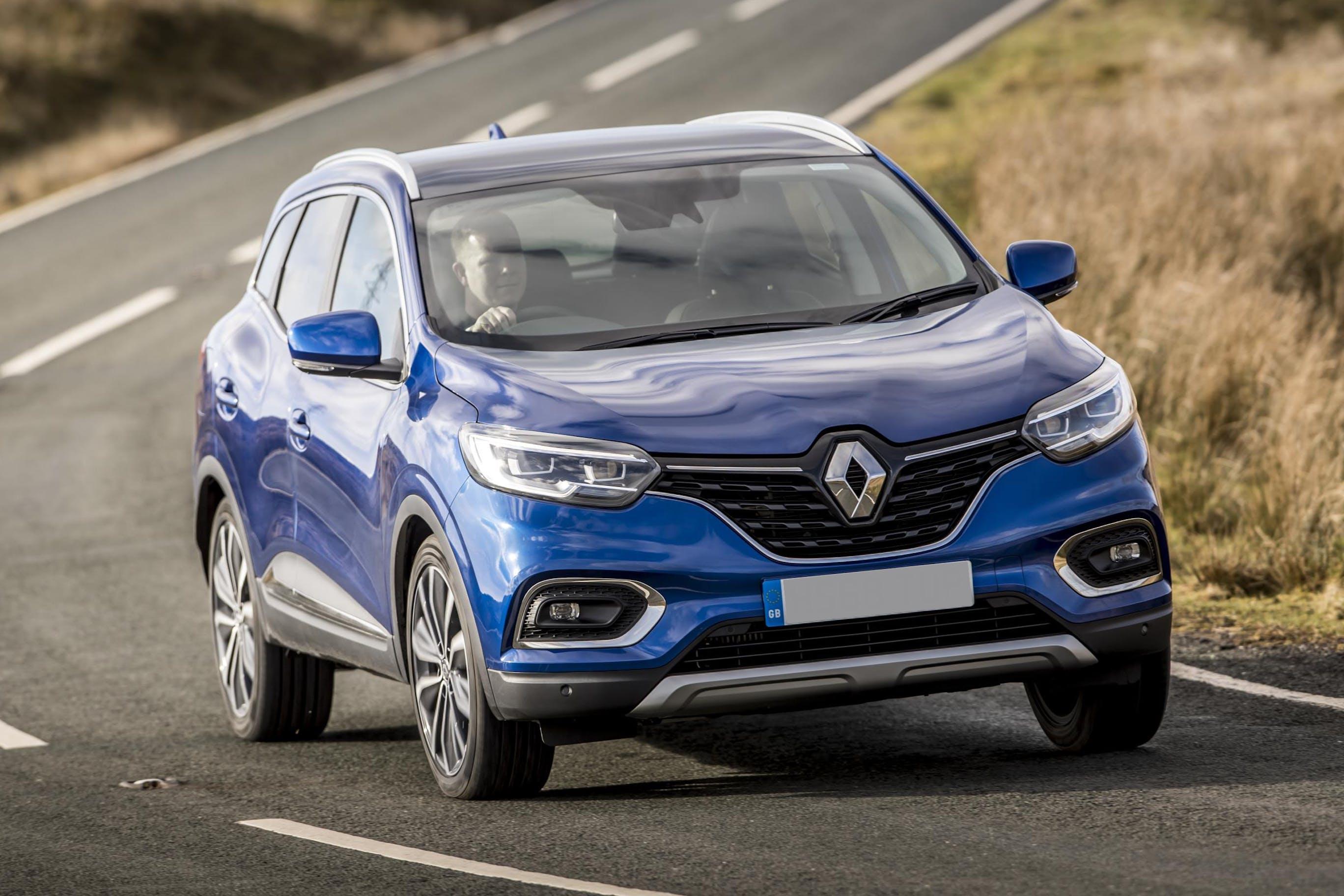 The exteriof of a blue Renault Kadjar