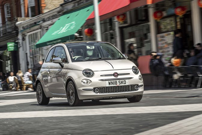 Fiat 500 city driving