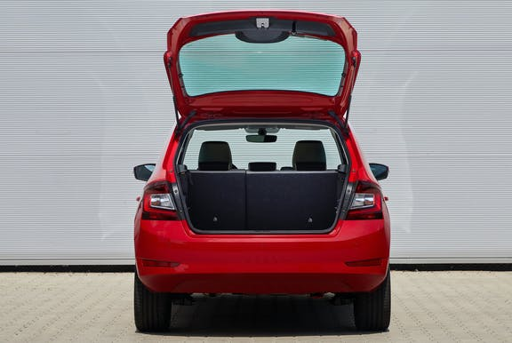 Boot space shot of the Skoda Fabia