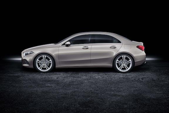 The exterior of a Mercedes A-Class