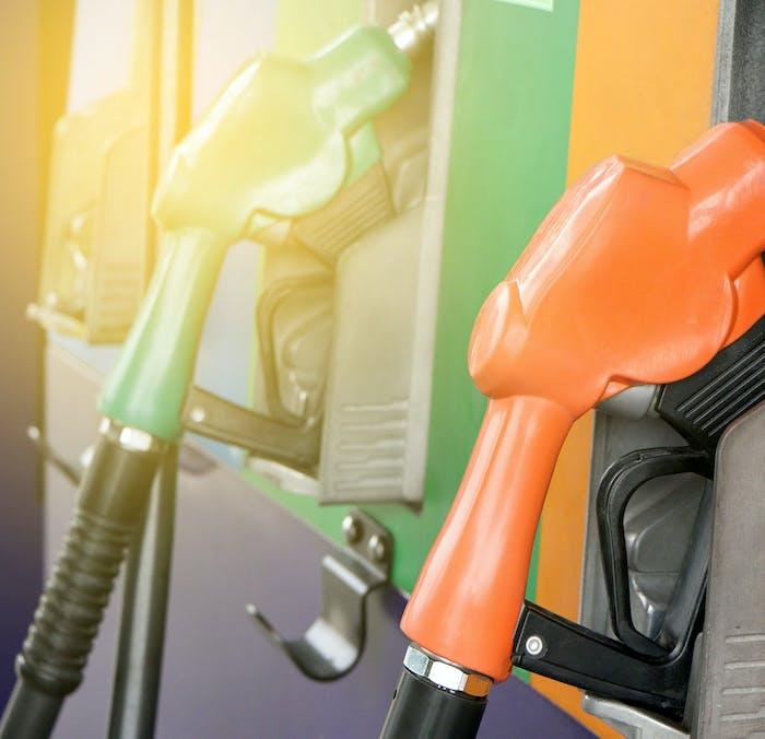 Fuel station pumps