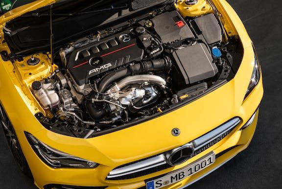 Engine shot of the Mercedes-Benz CLA