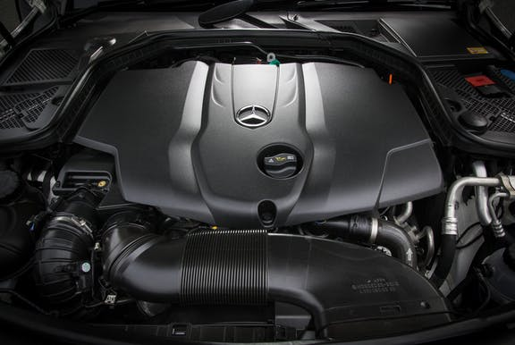 Engine shot of the Mercedes-Benz C-Class