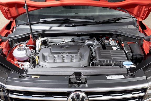 Engine shot of the Volkswagen Tiguan