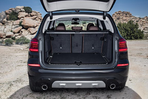 Boot space shot of the BMW X3