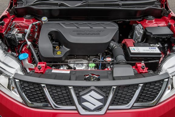 Engine shot of the Suzuki Vitara