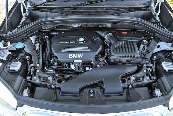 Engine shot of the BMW X1