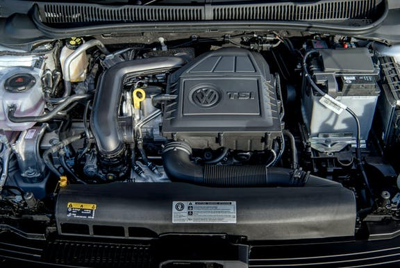 Engine shot of the Volkswagen Polo