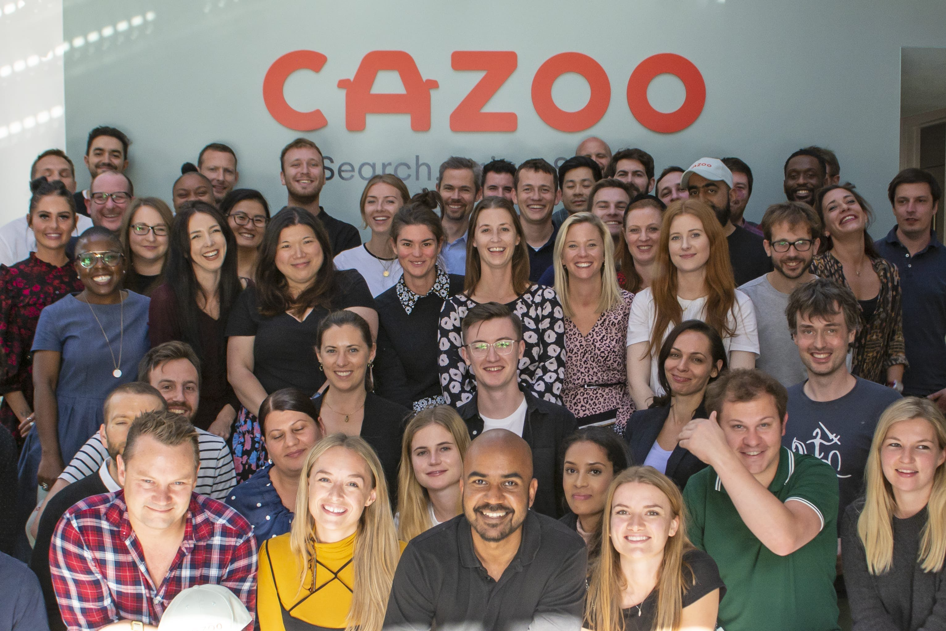 The Cazoo team in one of their London offices