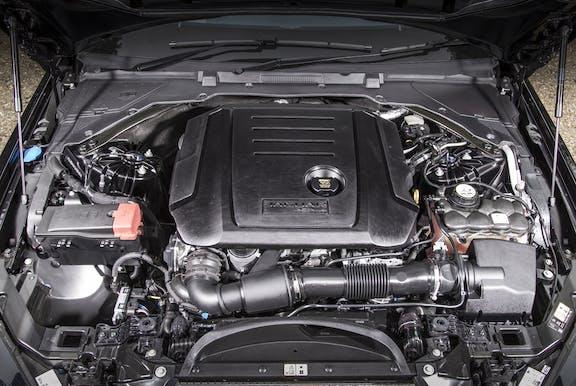 Engine shot of the Jaguar XE