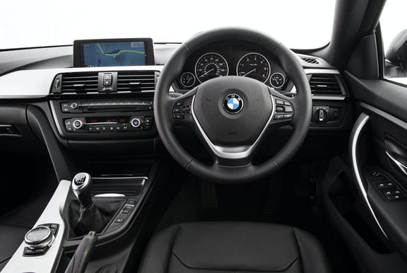 Interior of of a BMW 4 Series