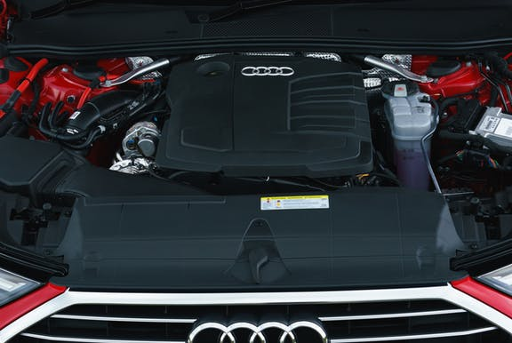 Engine shot of the Audi A6