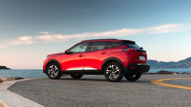 Peugeot 2008 side view red