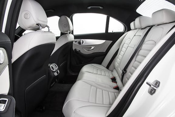 Rear seat shot of the Mercedes-Benz C-Class