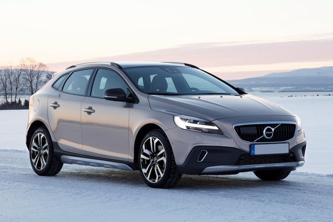 The exterior of a Volvo V-40