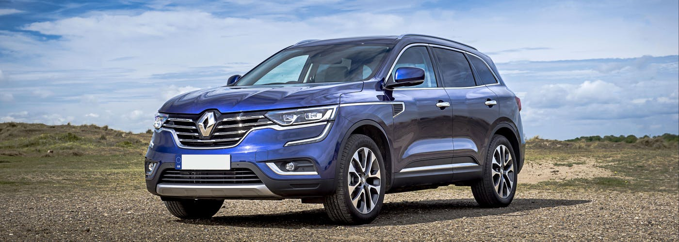 The front exterior of a Renault Koleos