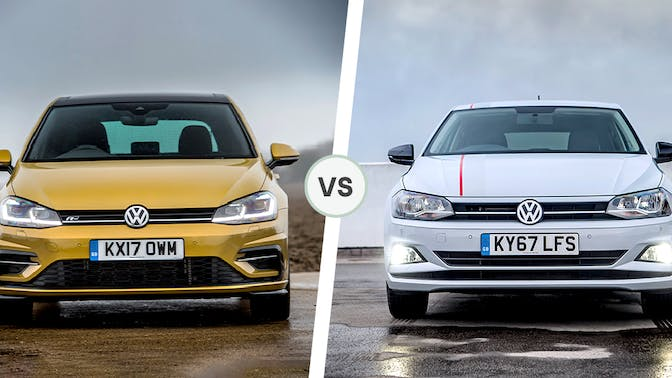 VW Golf and VW Polo front exterior