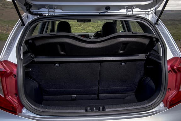 Boot space shot of the Kia Picanto