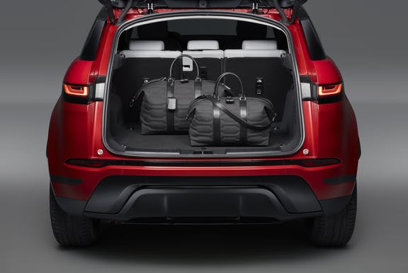 Boot space shot of the Range Rover Evoque