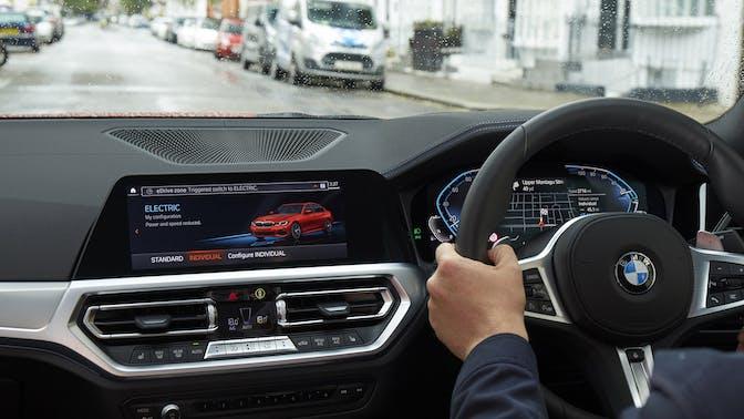 BMW interior driving