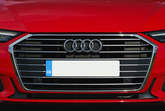 Grille shot of the Audi A6