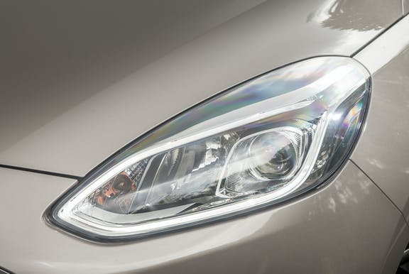 Front light shot of the Ford Fiesta